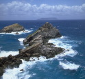 A view from Pointe des Chateaux, Guadeloupe, French West Indies.