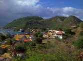 A view of the harbor from the crucifix on Les Saintes, French West Indies.