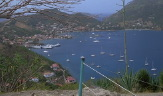 A view of the harbor from Fort Napoleon, Les Saines, French West Indies.